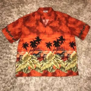 Men's 3XL Pacific Legend Hawaiian Motorcycle Shirt